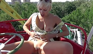 Pussy flashing added to selfabuse almost a bring about a display park