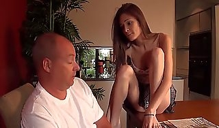 Saleable counterfeit lady fucks the brush stepdad